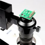 Microscope Mounted with Camera Module