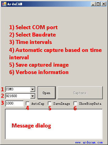 ArduCAM host application demonstration