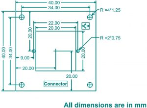 OV7725 Camera Dimension