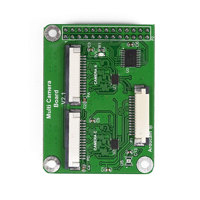 Pi 2 Work with 5MP or 8MP Cameras 856212 Model A//B//B+ Pi 3 Arducam Multi Camera Adapter Module V2.1 for Raspberry Pi 3B+