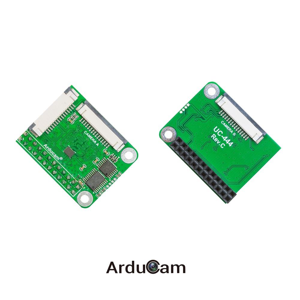 Image result for Arducam Multi Camera Adapter Doubleplexer Stereo Module V2 for Raspberry Pi Zero, Pi 4/3B+/3