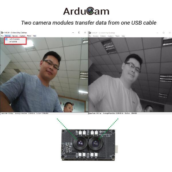 arducam stereo usb 2 uvc camera dual ir Dual Lens Stereo Camera Module Dual Image Output