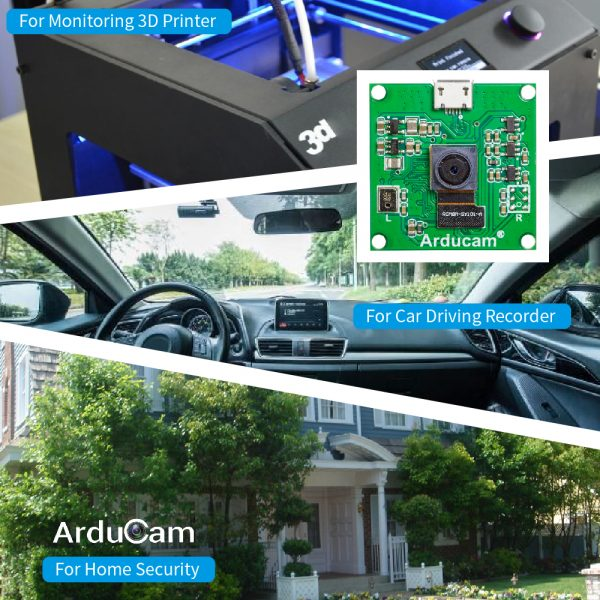 Arducam 8mp imx219 usb 2 uvc camera module For 3D printer, home security, dashcam