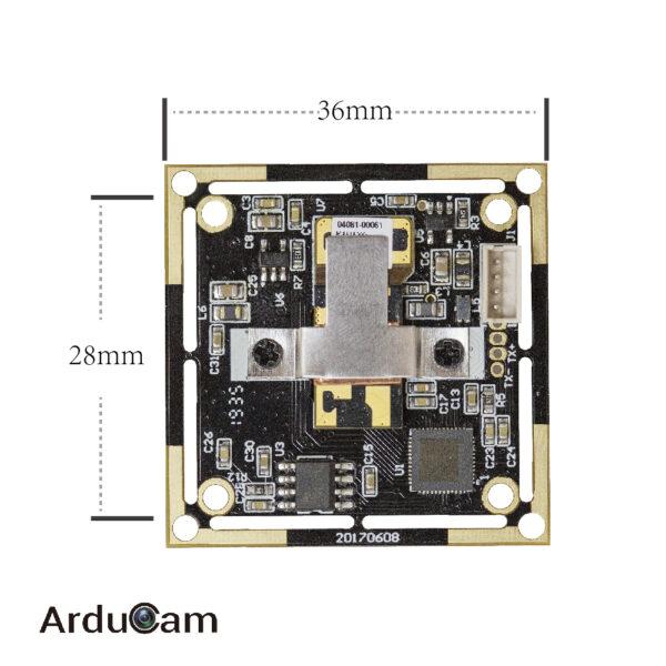 arducam imx179 usb 2 uvc autofocus camera module b0197 back