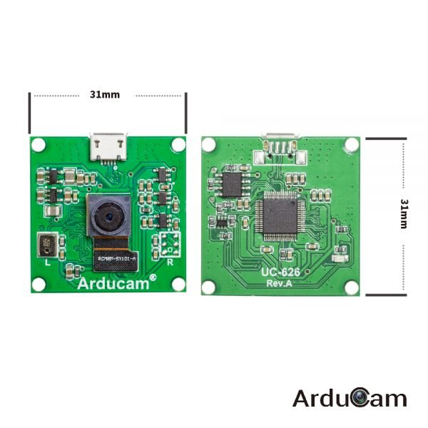 Arducam 8mp imx219 usb 2 uvc camera module Board Dimension