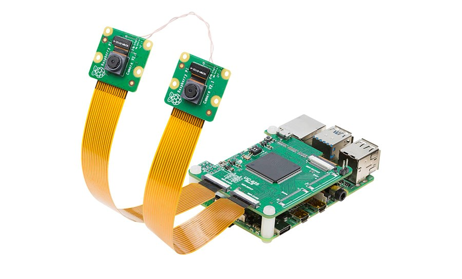Synchronized Dual Camera for Raspberry Pi 4, Stereo Camera