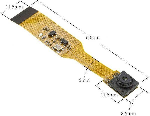 B006603 1-1 [B006603] Arducam for Raspberry Pi Zero Camera Module, 1/4 Inch 5MP OV5647 Spy Camera with Flex Cable for Pi Zero and Pi Compute Module