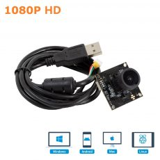 USB camera board wide angle WDR Arducam 1080P Low Light WDR Ultra Wide Angle USB Camera Module for Computer, 2MP CMOS IMX291 160 Degree Fisheye Mini UVC USB2.0 Spy Webcam Board with Microphone, 3.3ft Cable for Windows Linux Mac OS