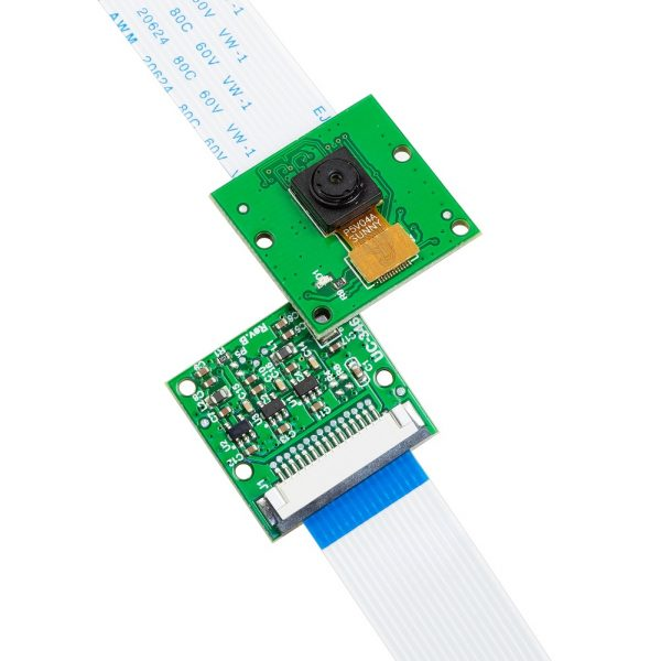 Front and back side of Arducam 5MP OV5647 1080P Noir Camera for Raspberry Pi, Infrared Camera Module Sensitive to IR Light