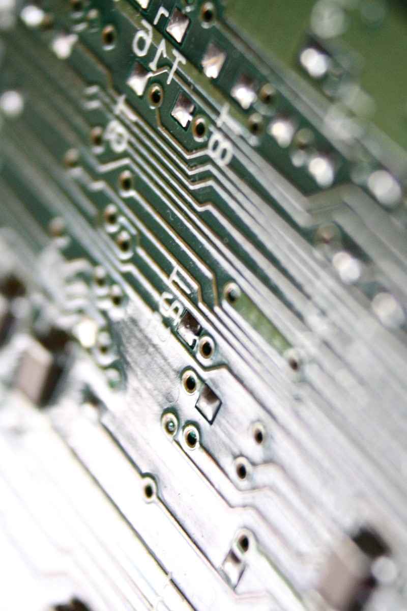 integrated, circuit, board, close up