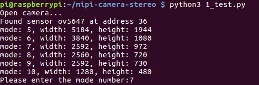 How the 1_test.py works on stereo camera hat application