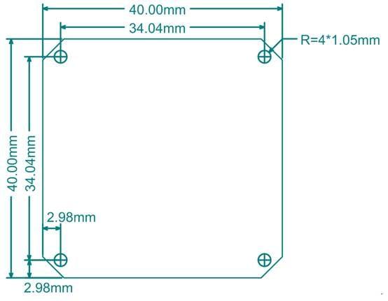 Mechanical Dimension usb2 shield revE