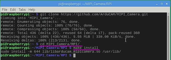 mipi camera lib make install