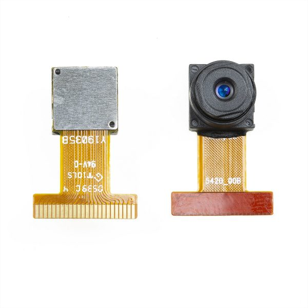 Back and front of the OV9650 1.3 Mega Pixels Camera module