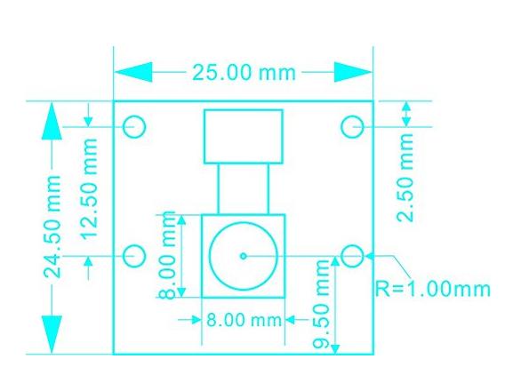 Diagram of Arducam 5 Megapixels 1080p Sensor OV5647 Mini Camera Video Module