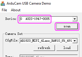 usb camera demo scan camera