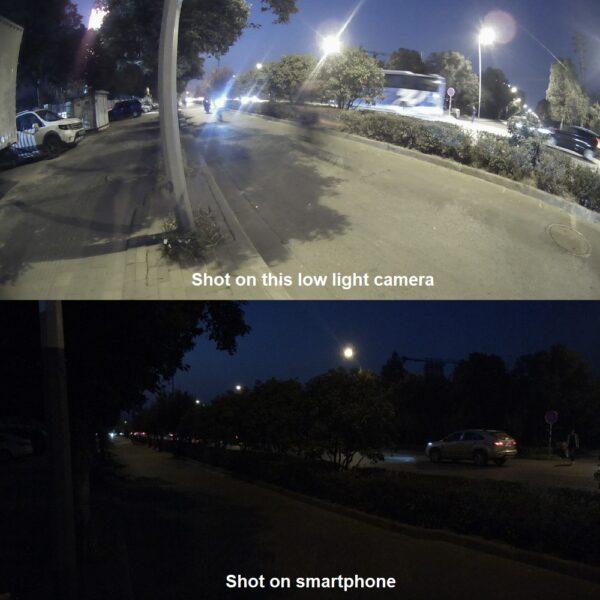 video surveillance camera for night comparison