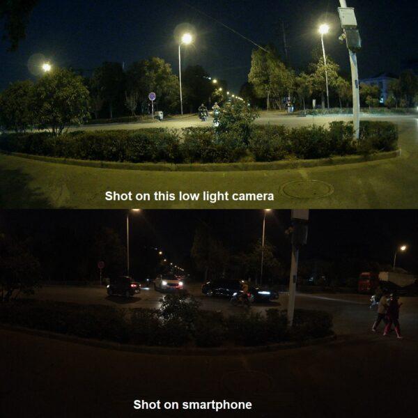 視頻監控攝像機,用於夜間比較