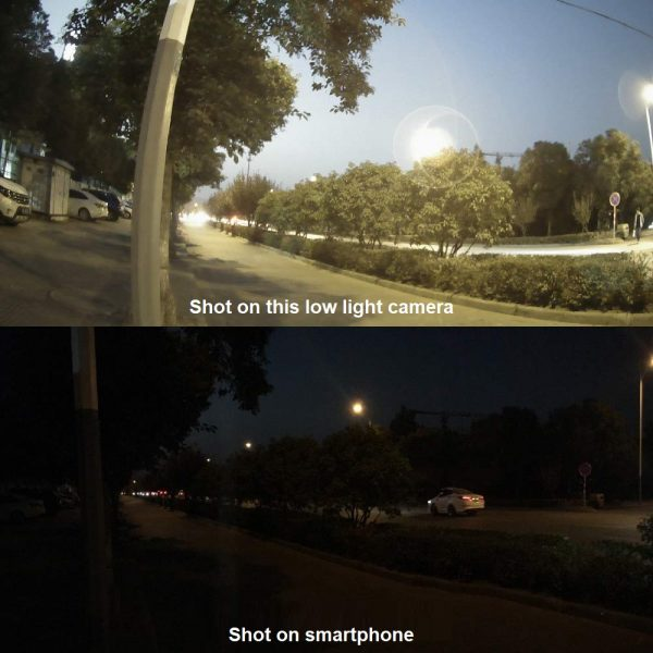 video surveillance camera for night comparison