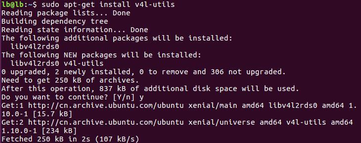 UVC v4l utils sudo apt get install