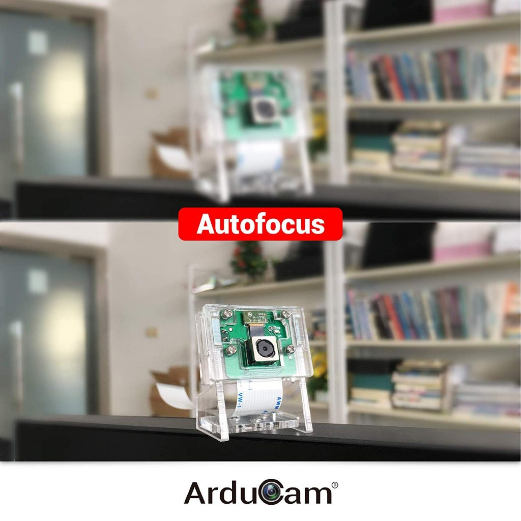 motorized auto focus raspberry pi camera on out
