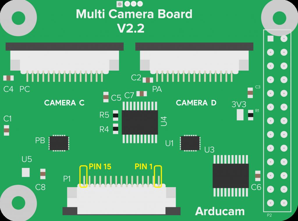 multi camera adapter pinout
