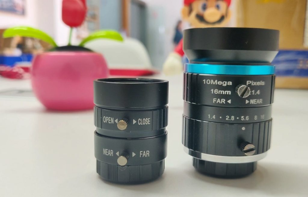 6mm and 16mm high quality camera lens