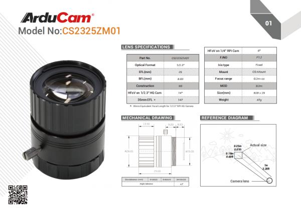 CS Mount Lens For HQ Cam 20200707 01