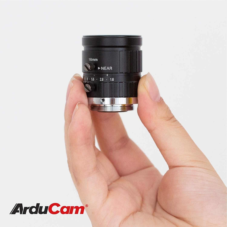 16 mm Brennweite mit manuellem Fokus und verstellbarer Blende ...