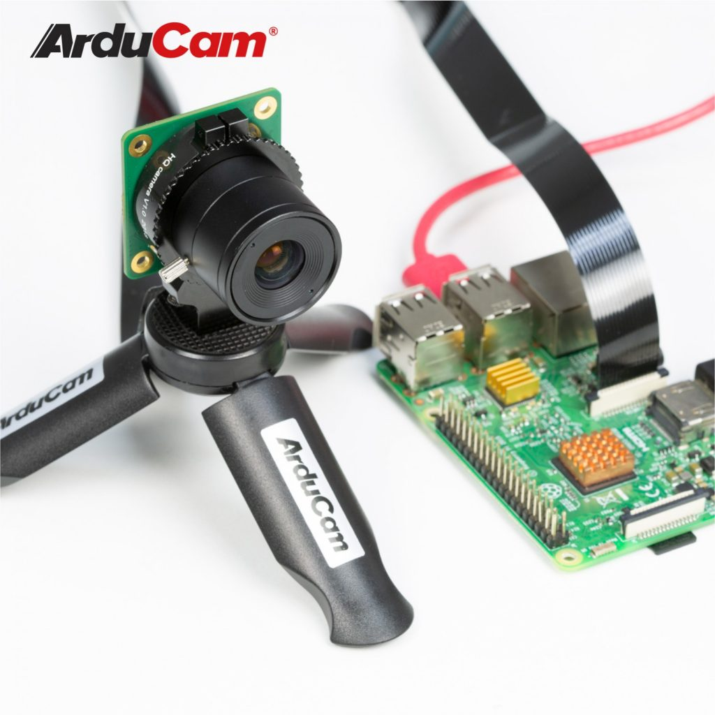 Raspberry Pi high quality camera with arducam 8mm cs mount lens