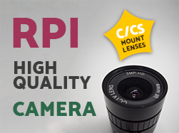 raspberry pi high quality camera c and cs mount lens