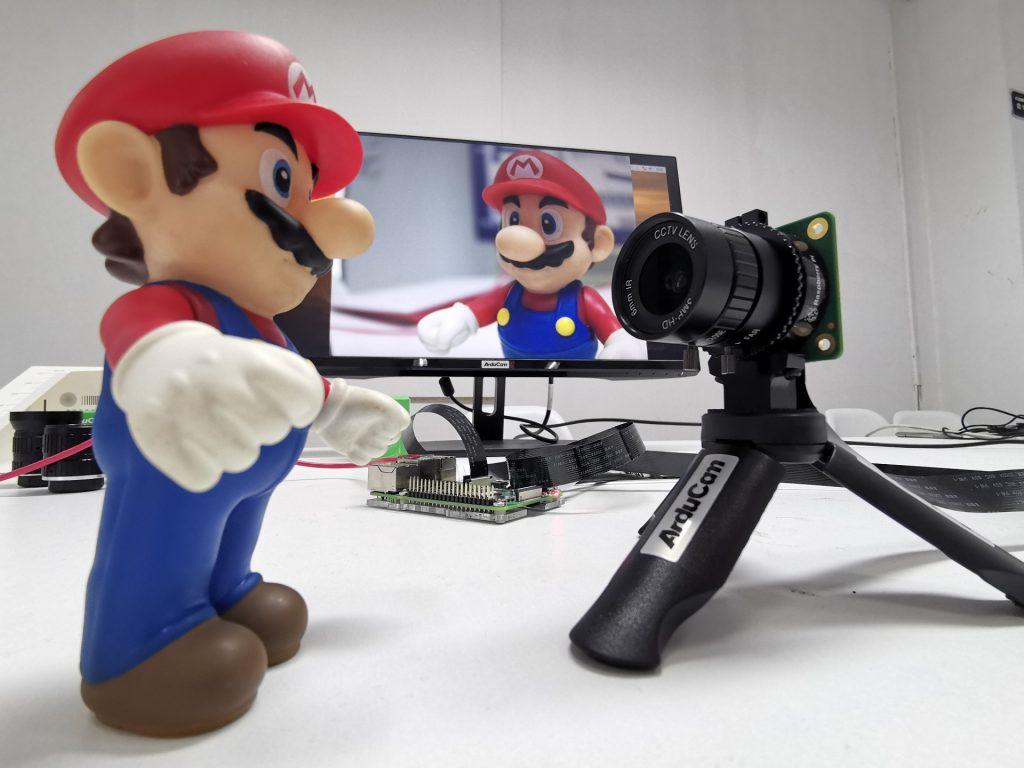 raspberry pi high quality hq camera on tripod cs mount lens