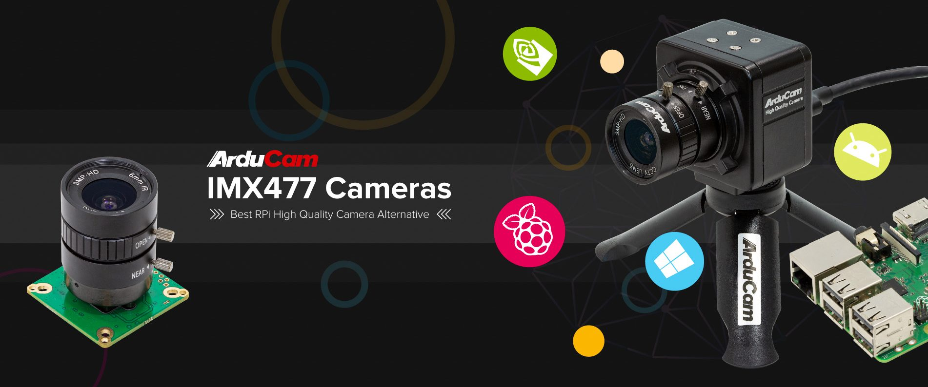 arducam high quality camera raspberry pi 12mp imx477 homepage banner 1