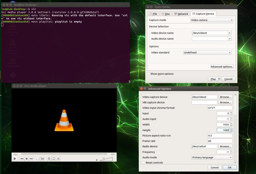 Jetson VLC settings