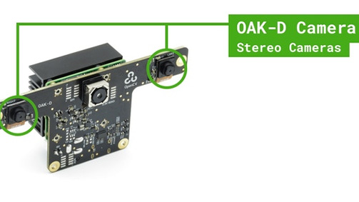 OAK D synchronized stereo camera