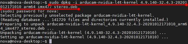 Install Arducam driver package1