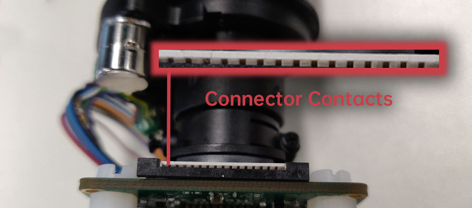 camera connector contacts