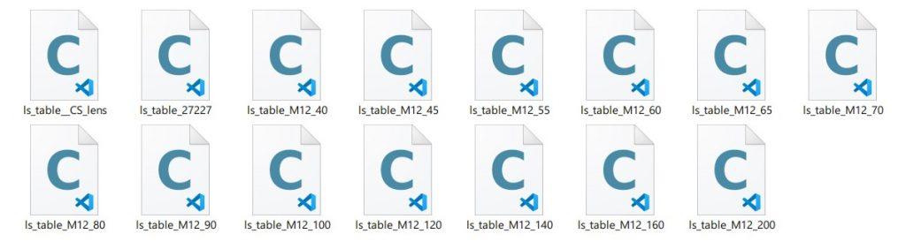 lens table calibration native