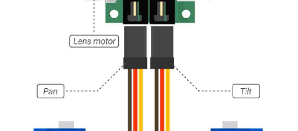 ptz camera servo connection