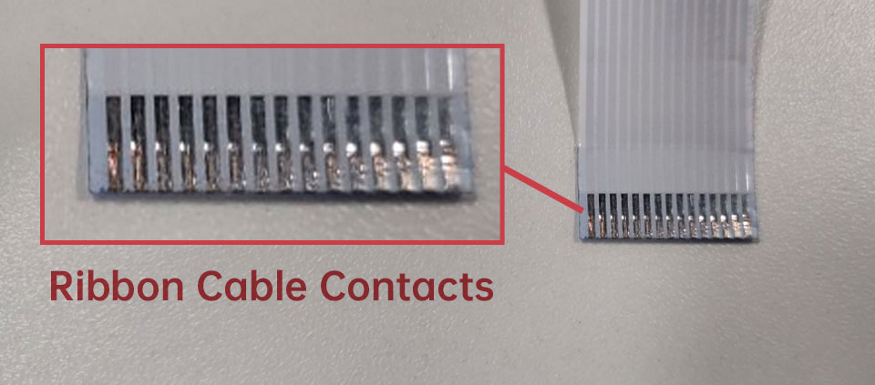 white camera ribbon cable contacts