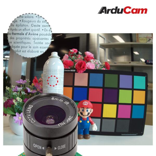 Arducam High Quality IR CUT Camera for Raspberry Pi 12.3MP 12.3 Inch IMX477 HQ Camera Module with 6mm CS Lens for Pi 4B 3B 2B 3A Pi Zero and more b0270 1
