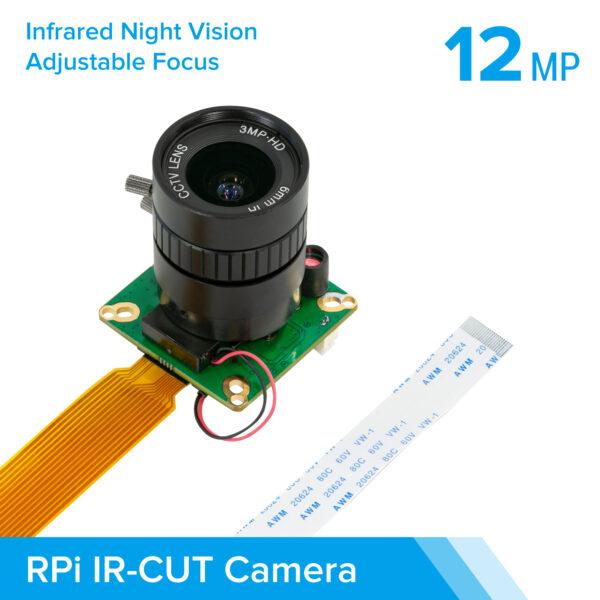 Arducam High Quality IR CUT Camera for Raspberry Pi 12.3MP 12.3 Inch IMX477 HQ Camera Module with 6mm CS Lens for Pi 4B 3B 2B 3A Pi Zero and more b0270 2