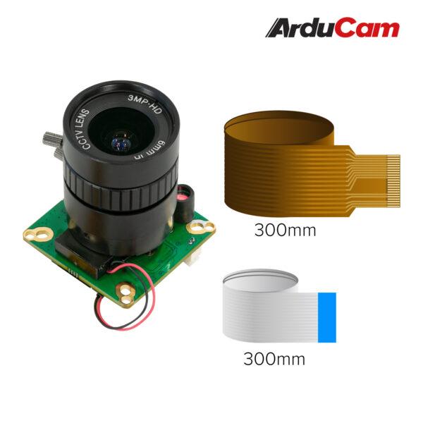 Arducam High Quality IR CUT Camera for Raspberry Pi 12.3MP 12.3 Inch IMX477 HQ Camera Module with 6mm CS Lens for Pi 4B 3B 2B 3A Pi Zero and more b0270 3