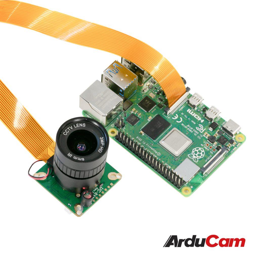 Arducam High Quality IR CUT Camera for Raspberry Pi 12.3MP 12.3 Inch IMX477 HQ Camera Module with 6mm CS Lens for Pi 4B 3B 2B 3A Pi Zero and more b0270 4