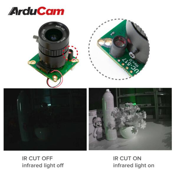 Arducam High Quality IR CUT Camera for Raspberry Pi 12.3MP 12.3 Inch IMX477 HQ Camera Module with 6mm CS Lens for Pi 4B 3B 2B 3A Pi Zero and more b0270 6