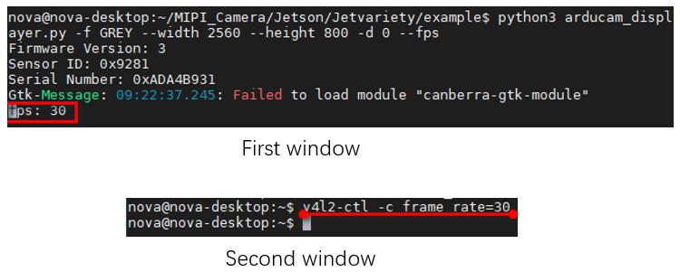 Change frame rate b0266 2 nano