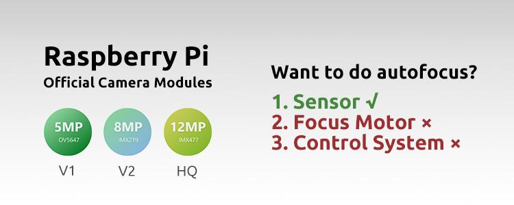 Do the official Raspberry Pi cameras meet all autofocus prerequisites