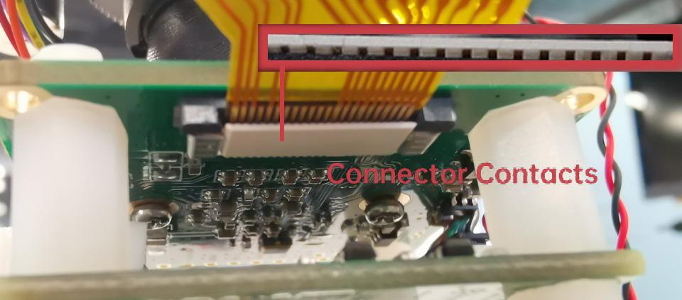 camera connector contacts