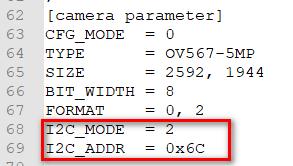 I2C MODE I2C ADDR1