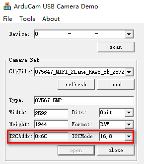 I2C MODE I2C ADDR3
